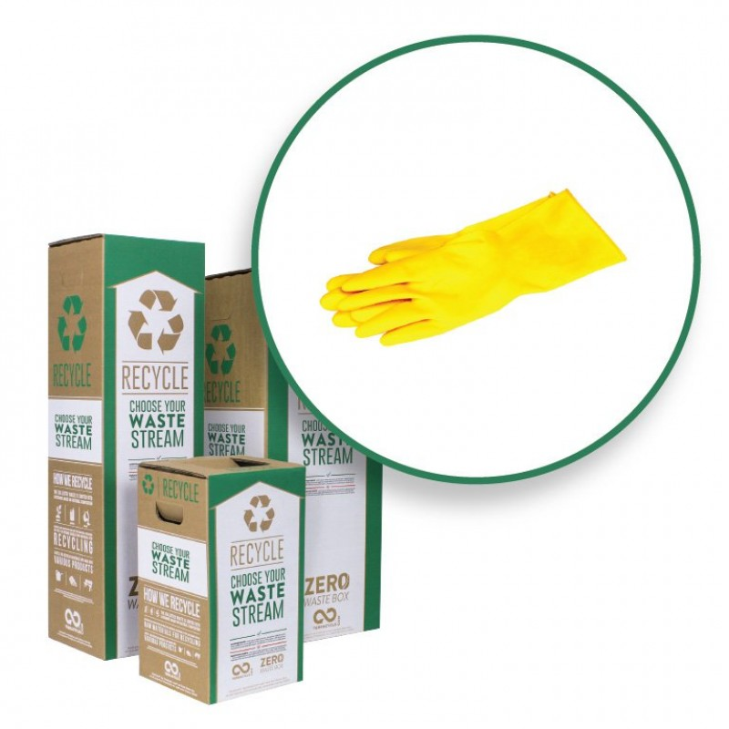 "CS45-L TerraCycle Zero Waste Box, Large, 15"" x 15"" x 37"" for Disposable Gloves"