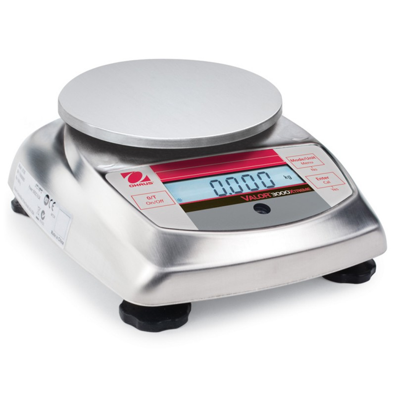 Ohaus Valor® 3000 Bench Scales, 83998136, 13.23 lbs. x 0.005 lb., 158 mm x 146 mm