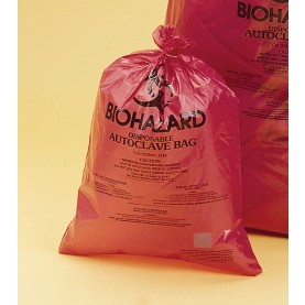 "13165-2535 Bel-Art Biohazard Bag , HDPE, 25"" W   X   35"" H, Red, 0.5 mm Thickness (Pack of 200)"