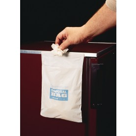 "13174-1008 Bel-Art Waste Bag , Polyethylene, 8"" W   X   10"" H, White, 0.03 mm Thickness (Pack of 50)"