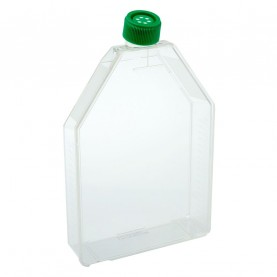 229361 CELLTREAT 300 cm² Tissue Culture Flasks, Vent Cap, Sterile, 18 Flasks