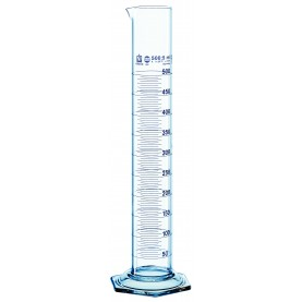 32808 BrandTech Graduated Cylinder, 10 mL, Borosilicate Glass, Class A, 140 mm Height, Hexagonal Base, Molded Graduations (Pack of 2)