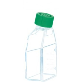 83.3912.500 Sarstedt Tissue Culture Flask, Hydrophobic, Sterile, 125 cm², Green Plug Seal Cap (Case of 40)