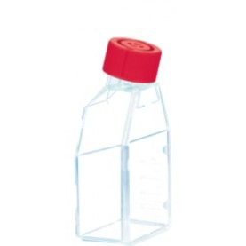 83.3910 Sarstedt Tissue Culture Flask, Hydrophilic, Sterile, 25 cm², Red Plug Seal Cap (Case of 300)