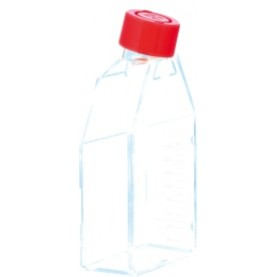 83.3911 Sarstedt Tissue Culture Flask, Hydrophilic, Sterile, 75 cm², Red Plug Seal Cap (Case of 100)