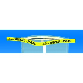 "B01341WA Nasco Whirl-Pak Flat Wire Write - On Bag, Polyethylene, 4.5"" W  X  9"" L, Clear, 0.06 mm Thickness (Box of 500)"