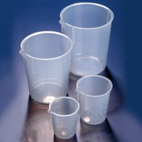 BPM0050P-1 Globe Scientific Tapered Side Beaker,Polypropylene, 50 mL, 61 mm Height, 50.5 mm O.D. (1 Each)