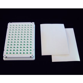 WT-50 Excel Scientific BrightMax™ Microplate Sealing Film for Luminescence & Microscopy Sealing Film, Vinyl, White, 203 µm Thick, Not Sterile (Pack of 50)