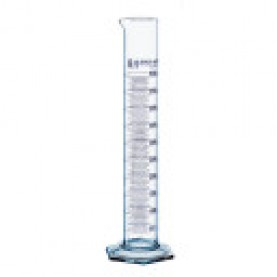 32838 BrandTech Graduated Cylinder, 100 mL, Borosilicate Glass, Class A, 260 mm Height, Hexagonal Base, Molded Graduations (Pack of 2)