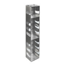 "Argos Technologies Aluminum Vertical Racks for Chest & Nitrogen Tanks for 3"" Cryoboxes, Holds 4 Boxes, Aluminum (1 Rack)"
