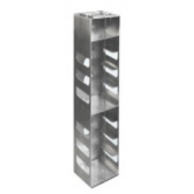 "Argos Technologies Aluminum Vertical Racks for Chest & Nitrogen Tanks for 3"" Cryoboxes, Holds 10 Boxes, Aluminum (1 Rack)"