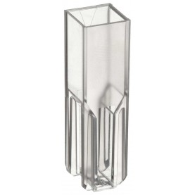 BrandTech 759076D Semi-Micro Cuvette, 3.0 mL, 10 mm, Polystyrene, 2 Clear Sides (Case of 100)